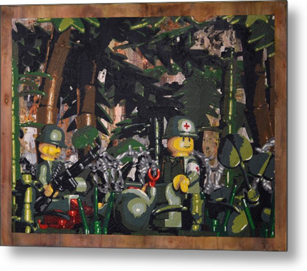 Tending To The Wounded Vietnam Metal Print