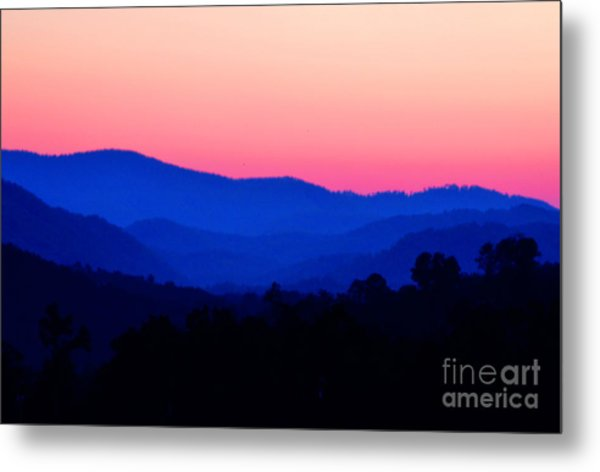 Tennessee Sunset Metal Print by EGiclee Digital Prints