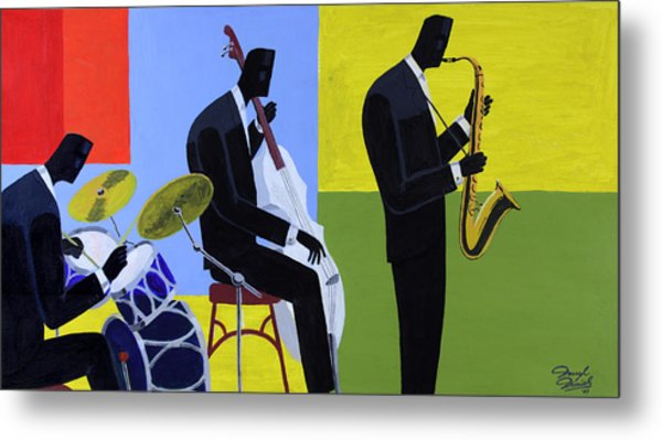 Terrace Jam Session Metal Print