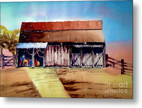 Texas Barn Metal Print