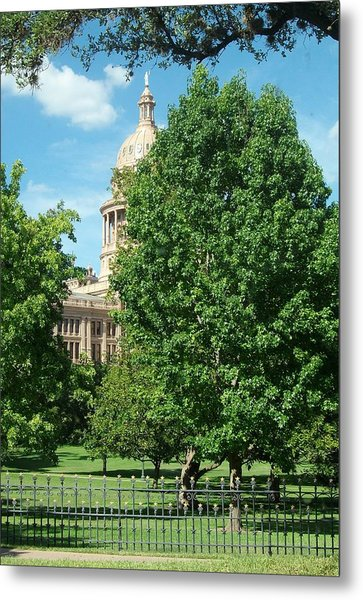 Texas Capitol Building In Austin Metal Print