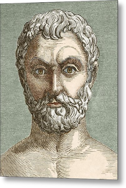 Thales, Ancient Greek Philosopher Metal Print by Sheila Terry