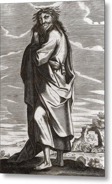 Thales Of Miletus, Greek Philosopher Metal Print