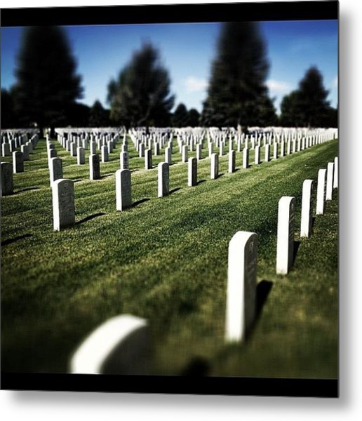 Thank You For Your Service And Sacrifice Metal Print