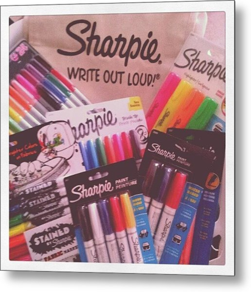 Thank You @sharpie  #sharpie Metal Print
