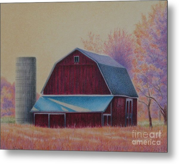 The 1918 Barn Metal Print by Elizabeth Dobbs