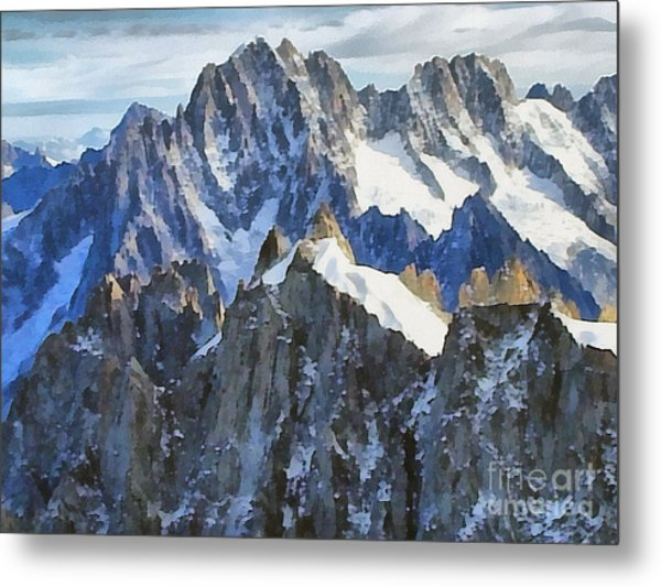 The Alps Metal Print
