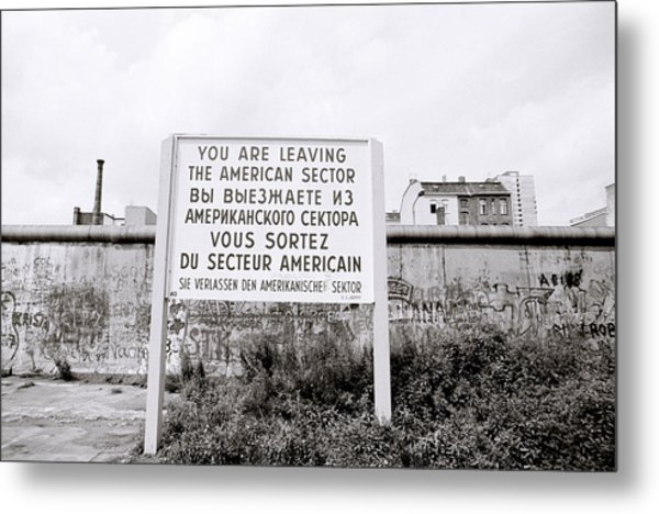 Berlin Wall American Sector Metal Print