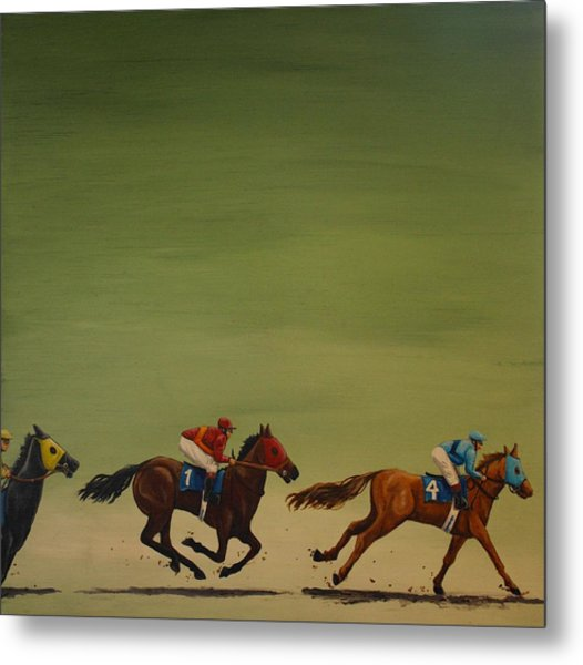 The Art Of Racing Metal Print by Jennifer Lynch