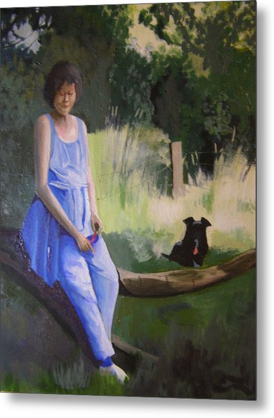 The Artist's Wife With Jasper Metal Print
