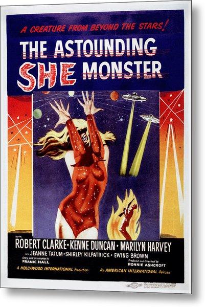 The Astounding She-monster, Poster Art Metal Print
