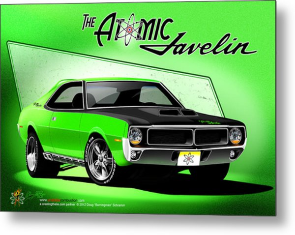 The Atomic Javelin Metal Print