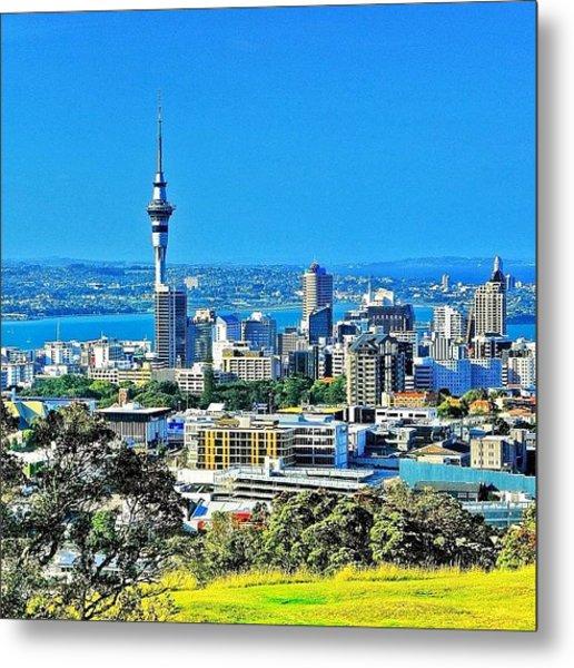 The Auckland Metropolitan Area ( Metal Print