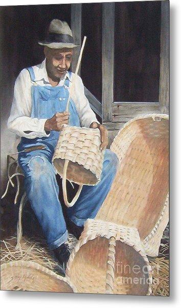 The Basket Maker ...sold  Metal Print