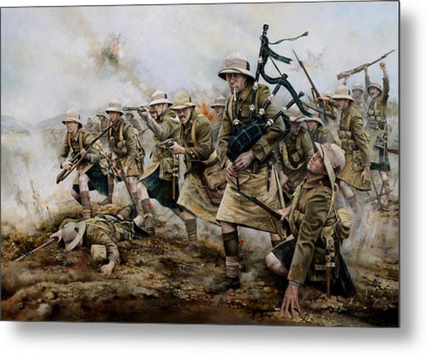 The Battle Of Achi Baba 1915 Metal Print by Chris Collingwood