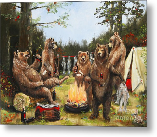 The Bear Party Metal Print by Stella Violano
