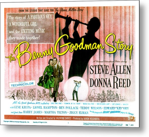 The Benny Goodman Story, Donna Reed Metal Print by Everett