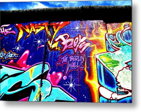 The Berlin Wall 2 Metal Print by Mark Azavedo