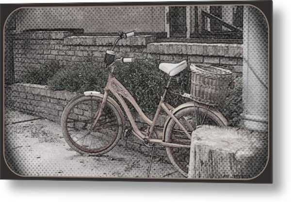 the Bicycle is waiting Metal Print