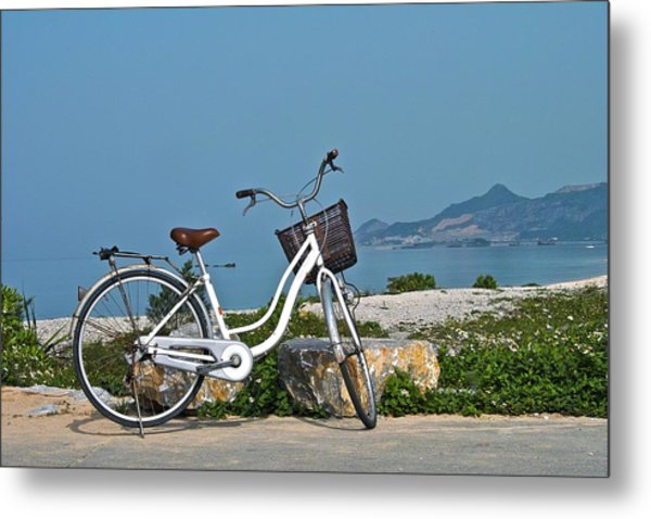 The Bicycle Metal Print by Jocelyn Kahawai