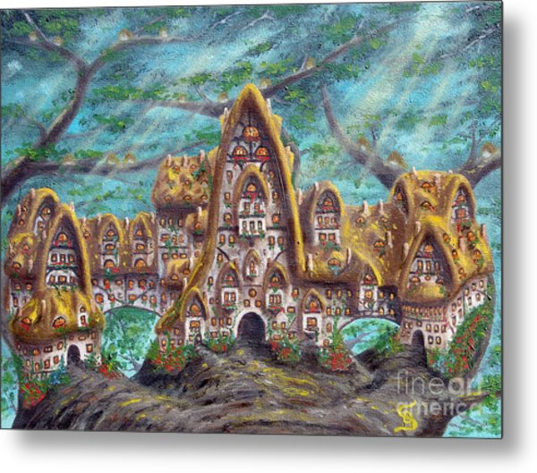The Big Straddle House From Arboregal Metal Print by Dumitru Sandru