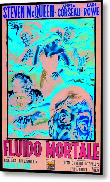 The Blob, Italian Poster Art, 1958 Metal Print by Everett