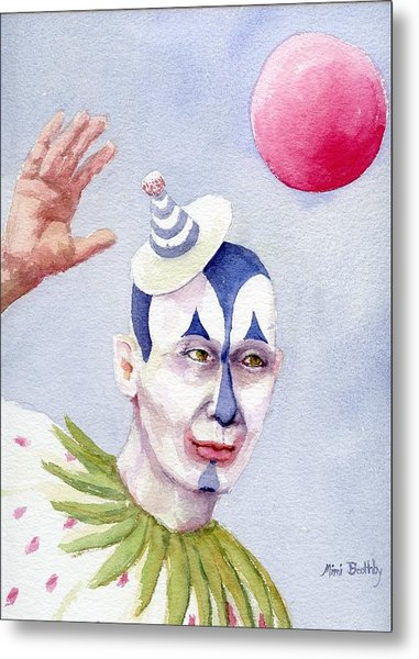 The Blue Clown Metal Print