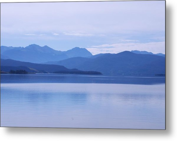 The Blue Shore Metal Print