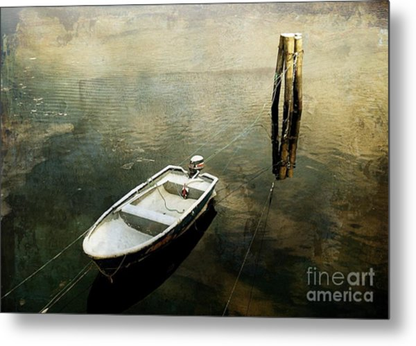 The Boat In Winter Metal Print