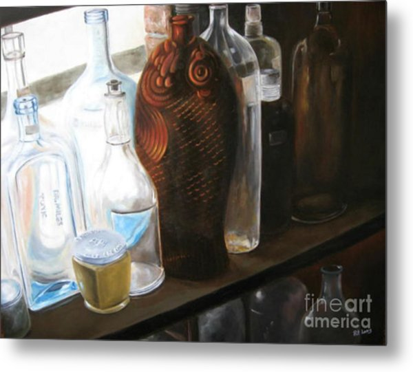 The Bottles  Metal Print