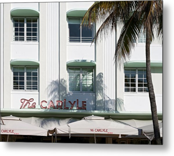 The Carlyle Hotel 2. Miami. Fl. Usa Metal Print