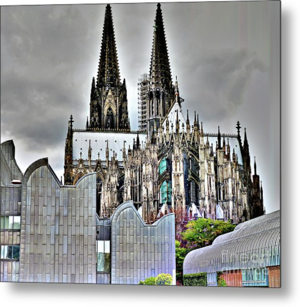 The Cathedral In Cologne On The Rhine Metal Print