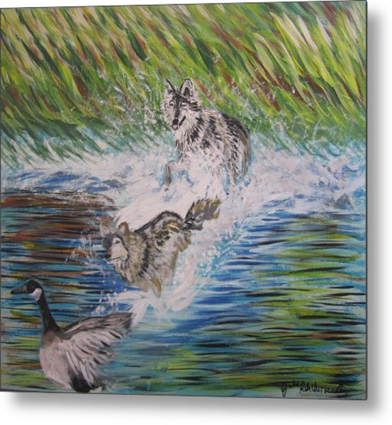 The Chase Metal Print by Julia Rita Theriault