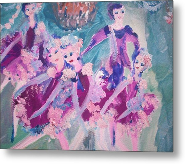 The Chocolate Chandelier Ballet Company Metal Print by Judith Desrosiers