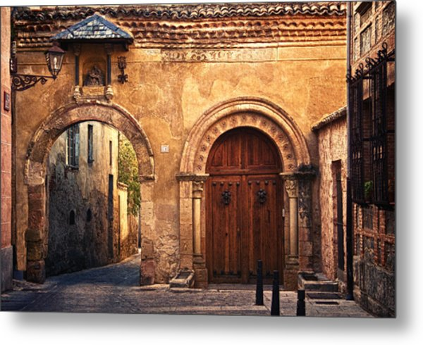 The Claustra Gate In Segovia Metal Print