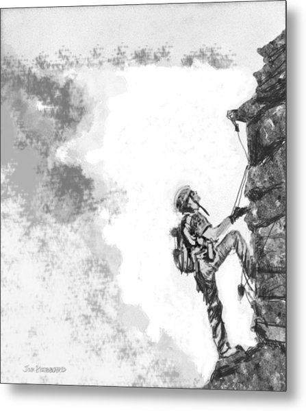 The Climber Metal Print by Jim Hubbard