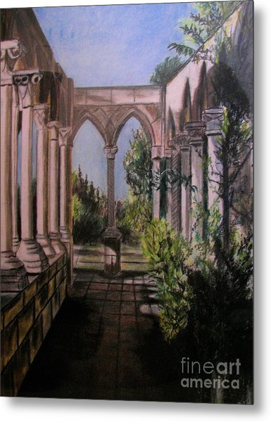 The Cloisters Colonade Metal Print