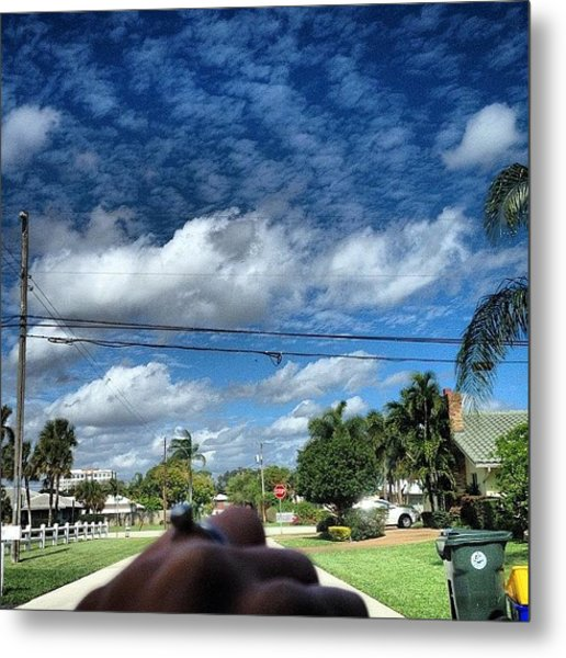 The Clouds Are A Lovely Sight Today Metal Print