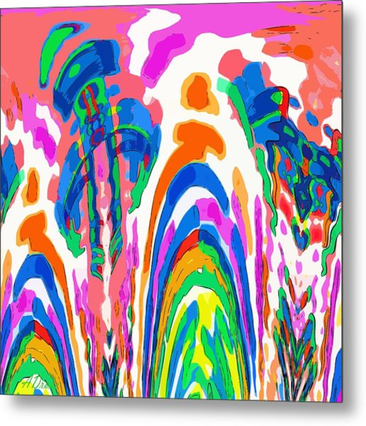 The Colors Fountain Metal Print