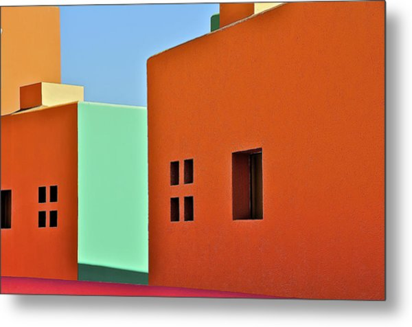 the Colors of Mexico Metal Print