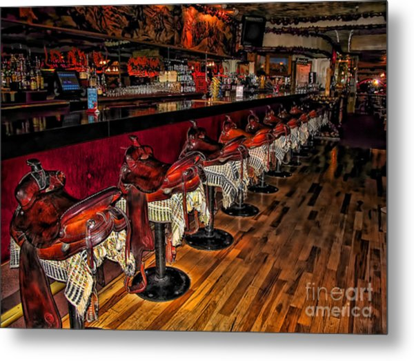 The Cowboy Bar Metal Print