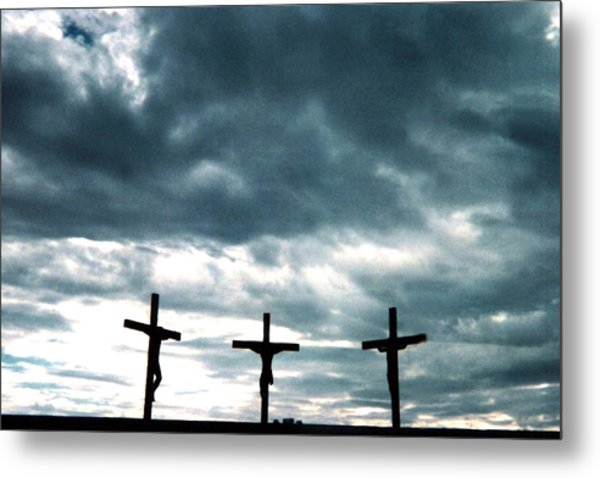 The Crosses At Groom Metal Print by Ed Golden