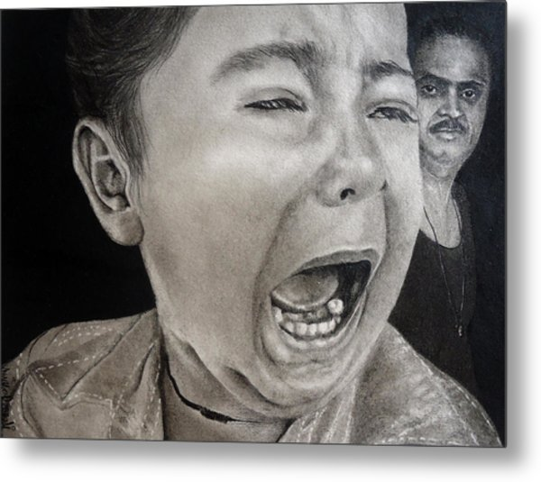 The Crying Child Metal Print by Mickey Raina