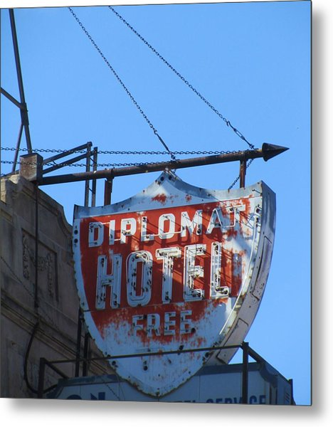 The Diplomat Hotel Chicago Metal Print by Todd Sherlock