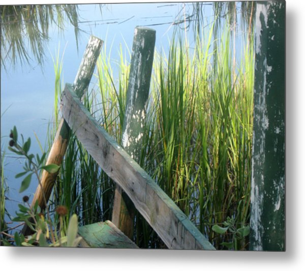 The Dock Metal Print by Juliana  Blessington