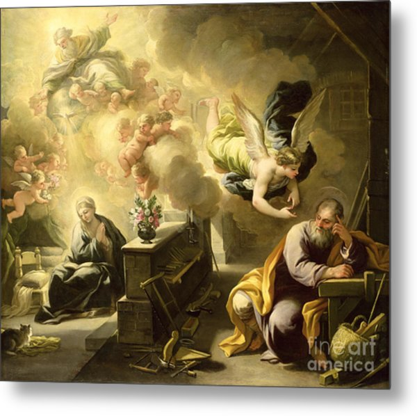 The Dream Of Saint Joseph Metal Print