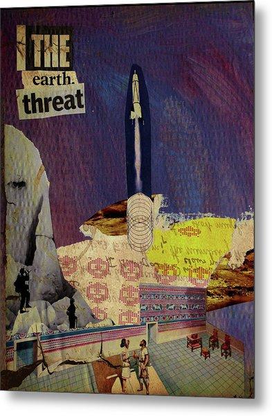 The Earth Threat Metal Print by Adam Kissel