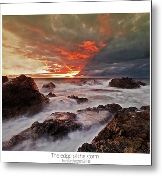 The Edge Of The Storm Metal Print