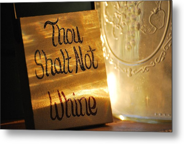 The Eleventh Commandment Metal Print by Kimberly Little