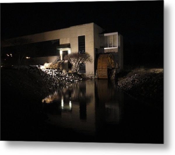 The End Of A Dark Stream Metal Print by Guy Ricketts